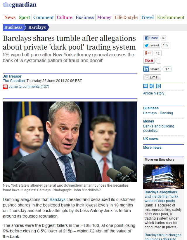 FireShot Screen Capture #156 - 'Barclays shares tumble after allegations about private 'dark pool' trading system I Business I The Guardian' - www_theguardian_com_business_2014_jun_26_barclays-shares-tumble-dark-pool
